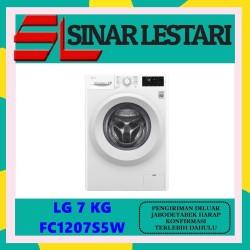 LG FC1207S5W Mesin Cuci LG 7kg Front Loading 6Motion MURAH BERGARANSI