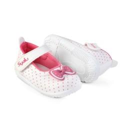 LS02 sepatu anak bayi perempuan trendy bahan lembut karet bunyi cit