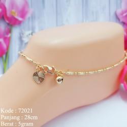 Gelang Kaki Rantai Pipa Lapis Emas Replika Emas Asli Missi Jewelry