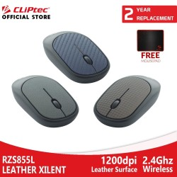 Mouse Wireless CLIPtec RZS855L - Leather Mouse Xilent Promo