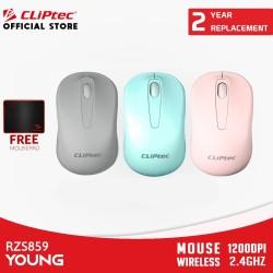 CLIPtec RZS859 Young / Wireless Mouse Optik 2.4Ghz / 1200DPI - Promo