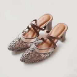 VAIA Sepatu Heels Wanita Scarlet Brown 7CM
