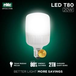 Lampu LED NVC-T80 / Warna Putih 20 Watt / Bohlam Murah Hemat Listrik