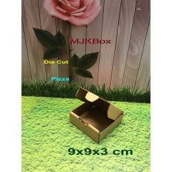 kardus/karton/box uk. 9x9x3 cm,,Die Cut....baru polos