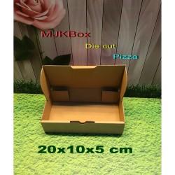 kardus karton box uk.20x10x5 cm....Model kardus Pizza, Baru Polos