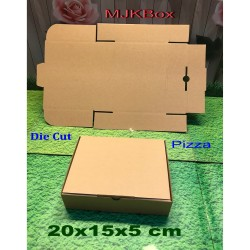 kardus karton box uk. 20x15x5 cm....model Pizza...baru polos