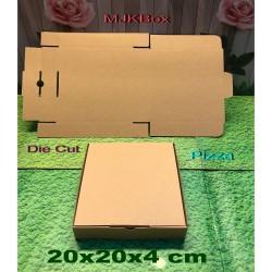 kardus karton box uk. 20x20x4 cm....model Pizza...Baru polos