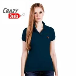 POLO RALPH LAUREN Polo Shirt Slim-Fit Navy Ladies Y02A01E0208 - FS