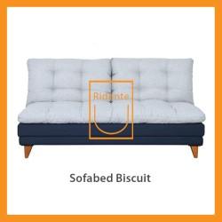 Ridente | Sofabed Minimalis Custom 2 seater Tipe Biscuit