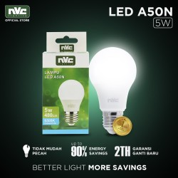 Lampu LED NVC-A50N / Warna Putih 5 Watt / Bohlam Murah Hemat Listrik