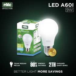 Lampu LED NVC-A60I-EE / Putih 9 Watt / Bohlam Murah Hemat Listrik