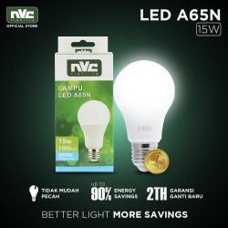 Lampu LED NVC-A65N / Warna Putih 15 Watt / Bohlam Murah Hemat Listrik