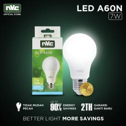 Lampu LED NVC-A60N / Warna Putih 7 Watt / Bohlam Murah Hemat Listrik