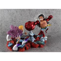 Action figure One Piece Monkey luffy vs Do Flamingo GK original resin