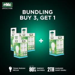 [BUNDLING] Lampu LED NVC-A50N / Putih 5W / Bohlam Murah Hemat Listrik