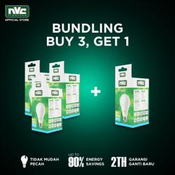 [BUNDLING] Lampu LED NVC-A60N / Putih 9W / Bohlam Murah Hemat Listrik