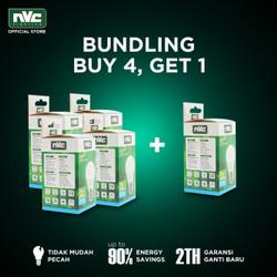 [BUNDLING] Lampu LED NVC-A50N / Putih 3W / Bohlam Murah Hemat Listrik