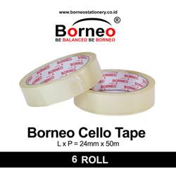 6 ROLL - Borneo Cello Tape CM 24mm x 50m