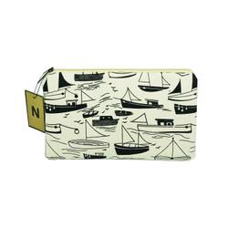 Handmade Sailing Ship Makeup Canvas Pouch Dompet Kosmetik Coin Purse