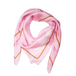 Luxatme Soie Pink Frame Scarf