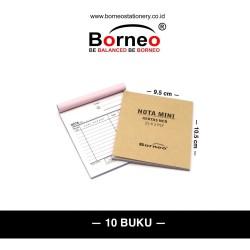 10 BUKU - Nota Kontan Mini - 2 Ply (25 Lbr)