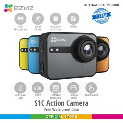 Ezviz S1C Sport Action Camera Free WP CaseMounting Garansi 1thn KUNING