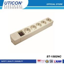 Uticon Stop Kontak 5 Lubang + Saklar ST - 1582NC / Original