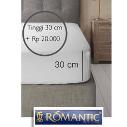 Tambah Tinggi 30 cm sprei ROMANTIC custom