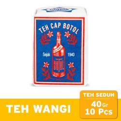Teh Seduh Cap Botol Biru 40 gr (10 pcs) - Loose Tea