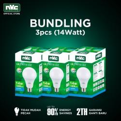 [BUNDLING] Lampu LED NVC-A70I-EE / Putih 14 Watt / Bohlam Murah Hemat
