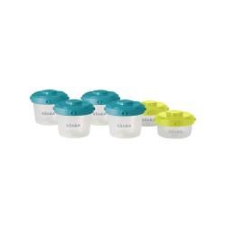 Beaba Set 6 Portions Clip 60/120 Blue-Green