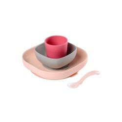 Beaba Silicone Meal Set (4pcs) - Pink