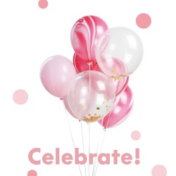 Balloons Kit - Pink Marble 23NO