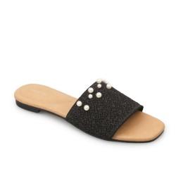 Symbolize Kiara Flat Sandal - Hitam
