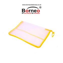 Borneo Map Resleting Zipper Bag Plastik Jaring 01