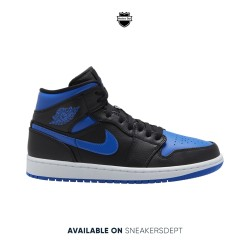 NIKE AIR JORDAN 1 MID ROYAL BLUE BLACK