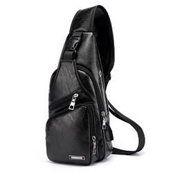FREEKNIGHT Tas Selempang Kulit Pria Fashion SLing Bag USB Port TS601