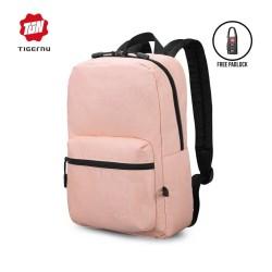 "TIGERNU T-B3825 Backpack Bag USB - Tas Ransel Laptop 14 ""- PINK"