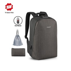 "TIGERNU T-B3669 Backpack Bag USB TSA- Tas Ransel Laptop 15.6 ""- COFFEE"
