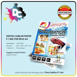 Kertas Sublim / Sublimation Paper for Mug ukuran A4 isi 50 Lembar