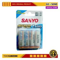 Sanyo Baterai AA 4 Pcs 2500mAh Rechargeable Ni-mh Baterai