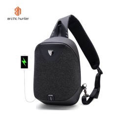 ARCTIC HUNTER XB00049 Crossbody Bag USB - Tas Selempang BLACK
