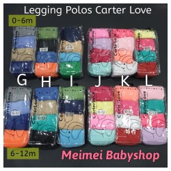 Legging Bayi Cotton Rich Tights Polos Anti Slip / Legging Carter isi 4