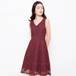Chocochips - Audrey Dress Maroon