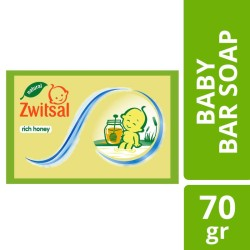 Zwitsal Baby Bar Soap Natural Milk and Honey 70gr