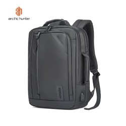 "ARCTIC HUNTER B00326 Backpack Bag USB 15.6"" - Tas Ransel Laptop BLACK"