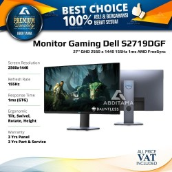 "Monitor LED Gaming Dell S2719 S2719D S2719DGF 27"" 2560x1440 155Hz 1ms"