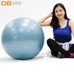Gym Ball Berkualitas import Diameter 65 Cm by OB Fit BONUS POMPA ANGIN