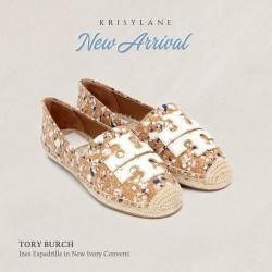 Sepatu wanita | TORY BURCH INES ESPADRILLE NEW IVORY CONVETTI 4123643