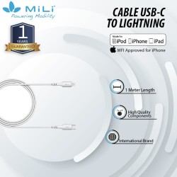 Mili Cable Usb C To Ligthning PD Fast Charging+ Data Transfer - MFI